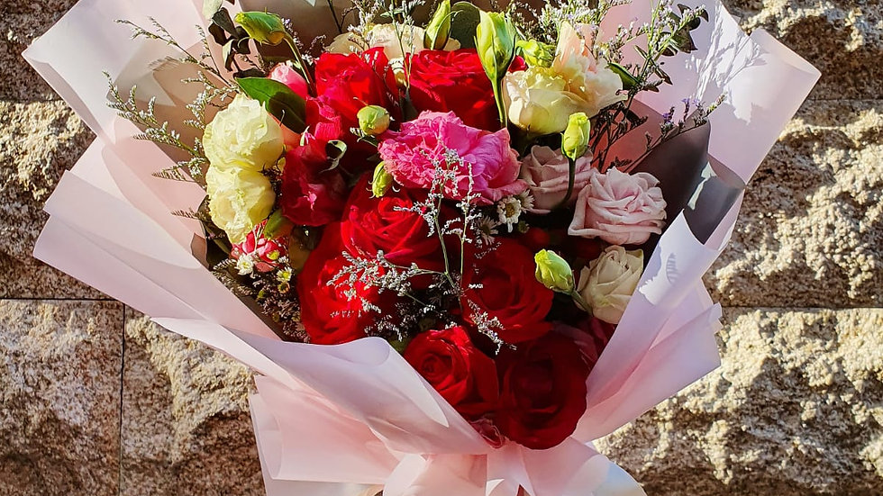 Blushing Blossoms Bouquet ( Large )