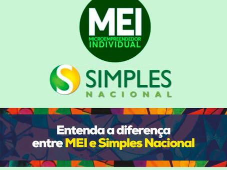 Entenda a diferença entre MEI e Simples Nacional