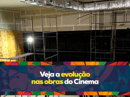Veja a evolução nas obras do Cinema Shopping Cidade das Artes
