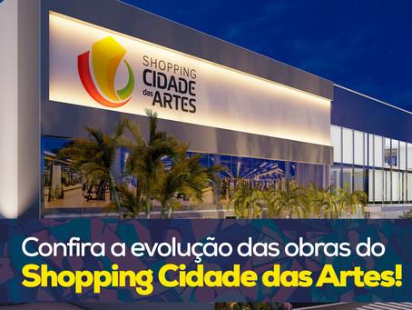 Confira a evolução das obras do Shopping Cidade das Artes