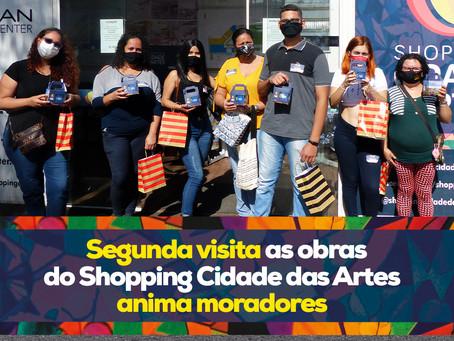 Segunda visita as obras do Shopping Cidade das Artes animam moradores