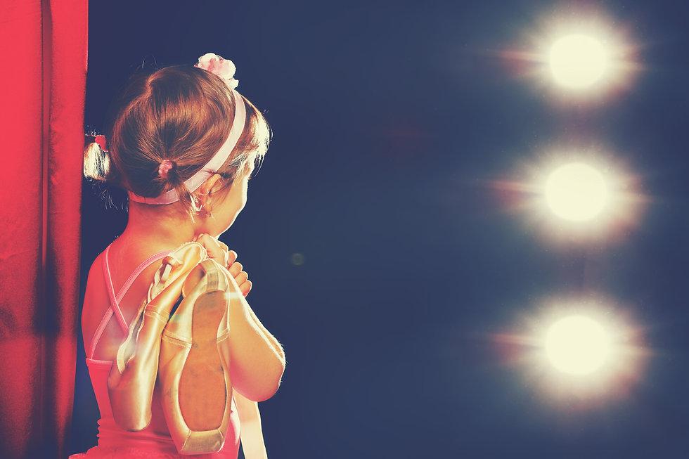 little child girl ballerina ballet dance
