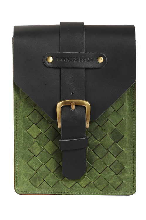 MAGNETIC CASE HAND WEAVE GREEN