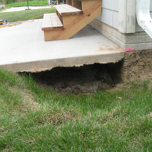 Concrete Patio Void Fill Pittsburgh