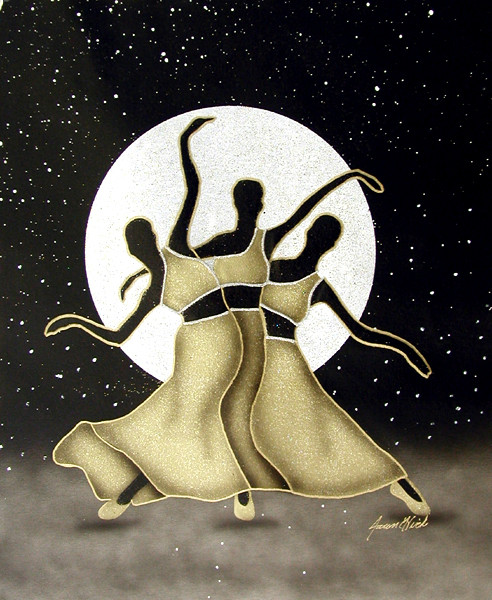 dancers by moon light (gold).jpg