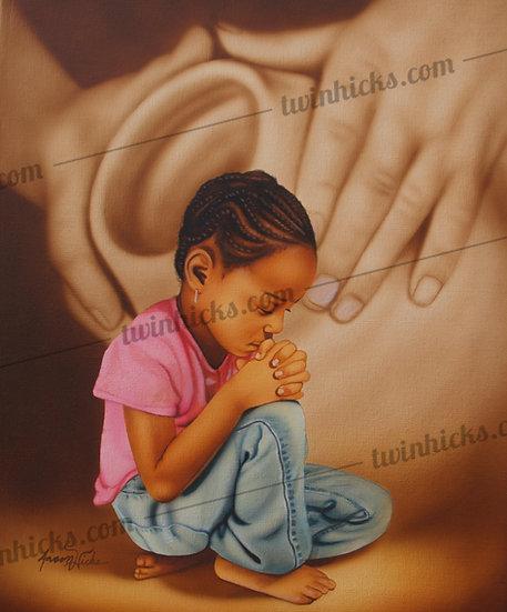 Kneeling Praying Girl