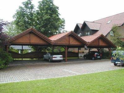 Carport mit Satteldach