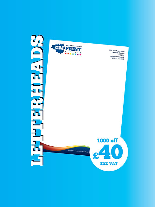 1000 A4 Letterheads