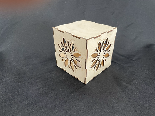 Wood Light Box (Flower)