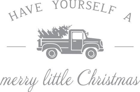 Merry Little Truck 24X18in