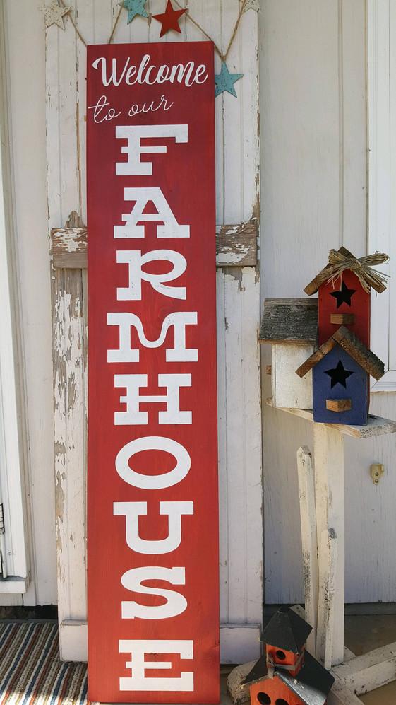 "Welcome Farmhouse 48"""