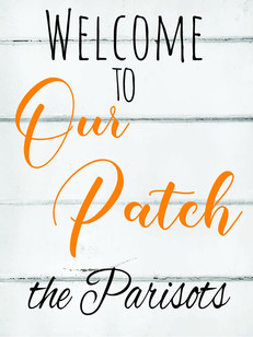 Welcome Patch Name 18X24in