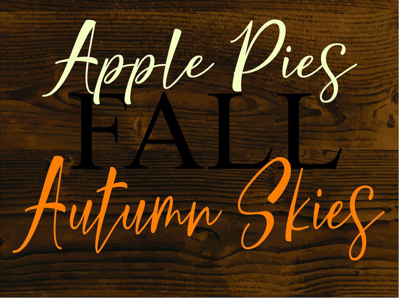 Apple Pies Autumn Skies 24X18in