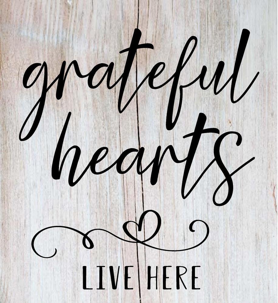 Grateful Hearts 16X18in