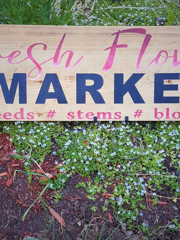 Fresh Flower Market 12x36in