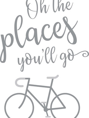 Places You'll Go Bike 16X18in