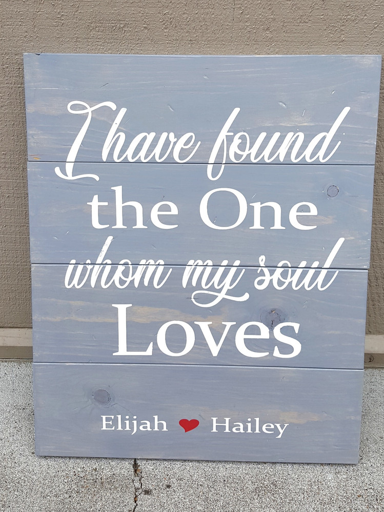 My Soul Loves, with Names 18X24