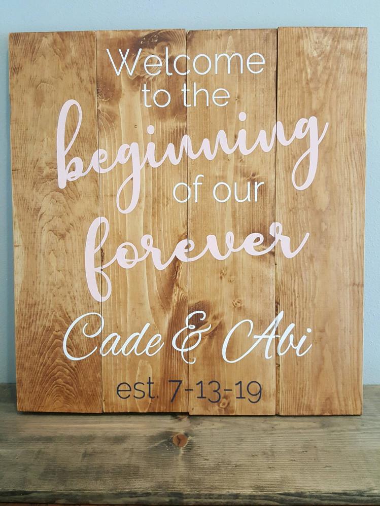 Beginning Forever 18hX24w