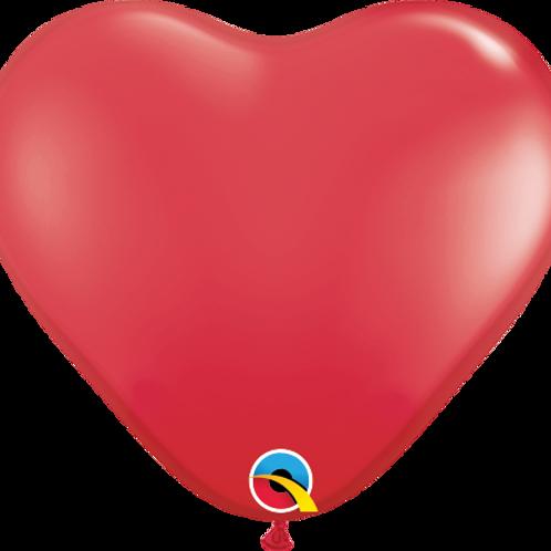 Rødt Hjerte ca 15cm 100stk