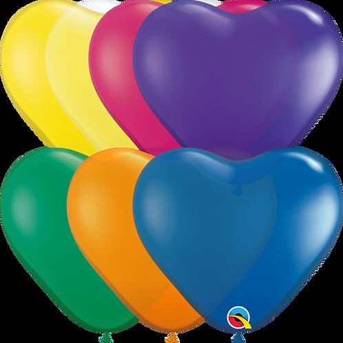 Hjerteballonger ca 15cm 100stk