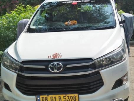 Delhi-Amritasr-Kurushetra-Delhi 4 days cab ( Crysta ) RS 22,000.00 GST extra.
