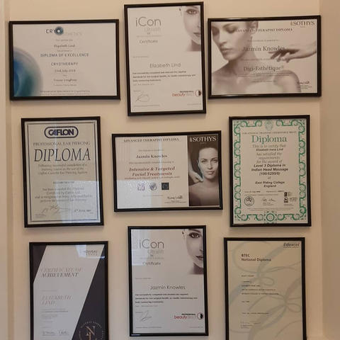 A small selection of our certificates