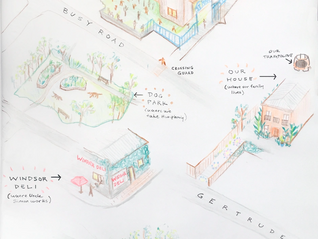 Share your personal experiences:  hand-drawn maps and hashtags