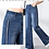 Thumbnail: Flared High Waisted Side Stripe Jean - Sizes in details