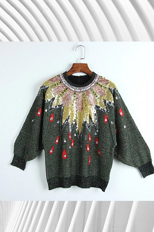 Sequinned Teardrop Jumper