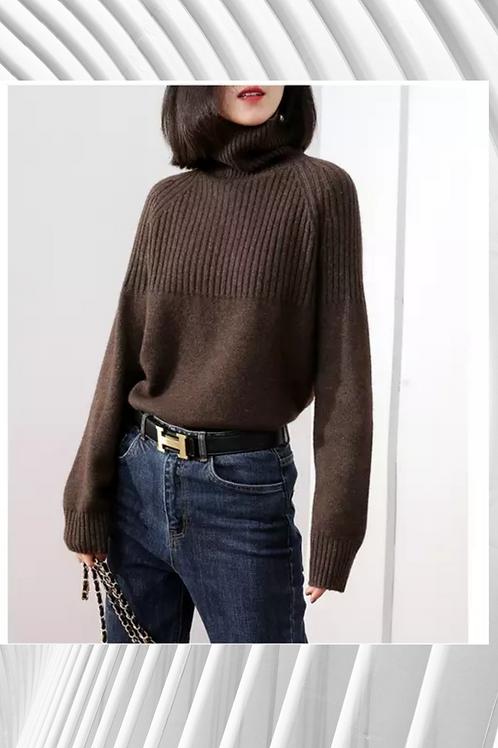 Cashmere Chunky Knit Turtle Neck