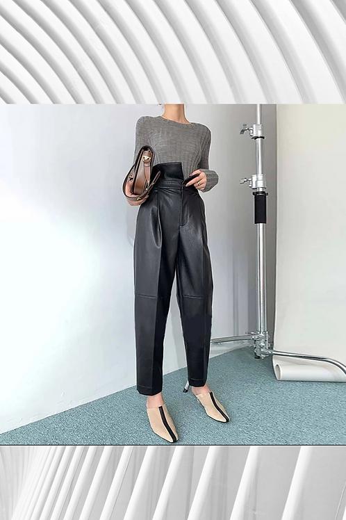 Leather PU Hareem Pants