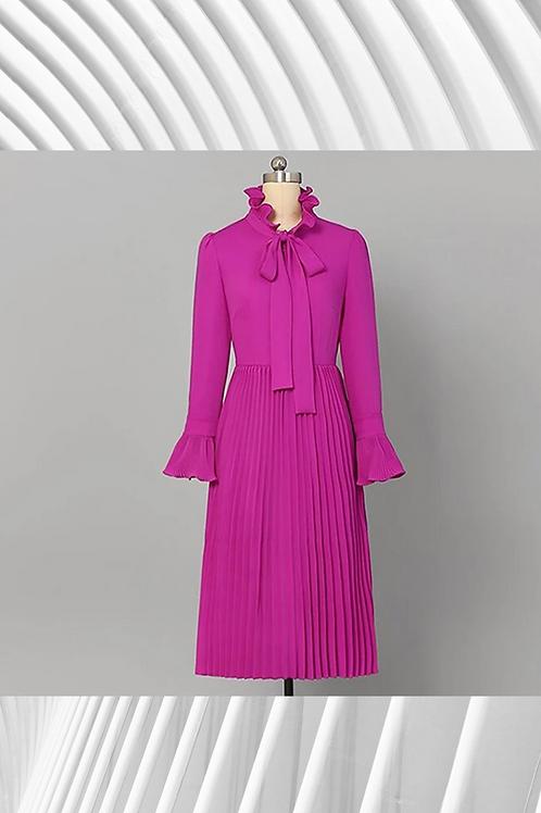 High Collar Vintage Summer dress - Spring