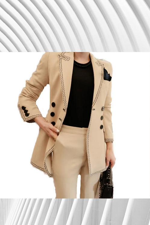 Apricot Taylored Suit - Spring