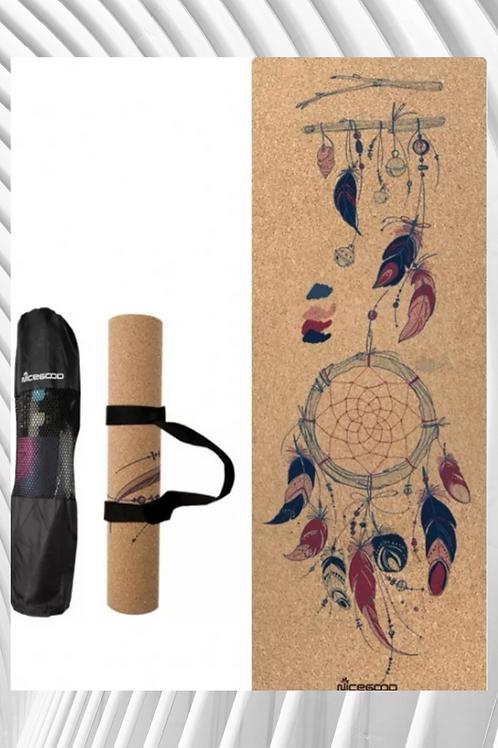 New High-density Natural Rubber Rubber Cork Yoga Mat 3mm