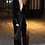 Thumbnail: Velvet V Neck jump Suit Wide Leg