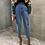 Thumbnail: Harem Jeans Fashion High Waist Loose White