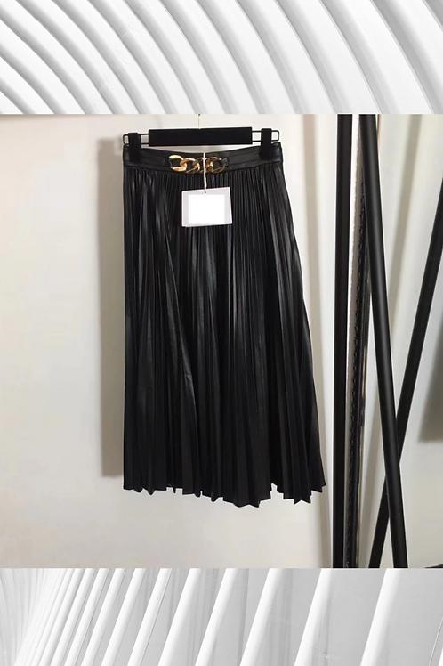 Chain Link Maxi Skirt PU