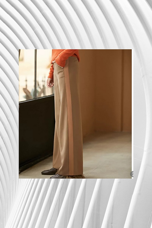 Apricot Side Stripe Pant - Spring