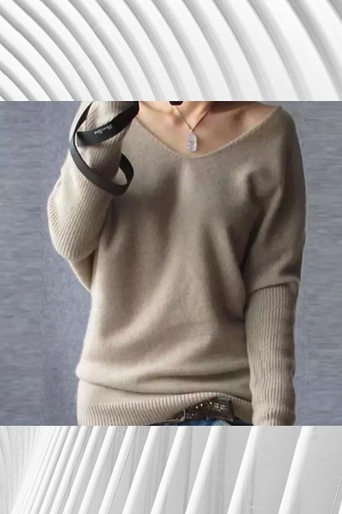 Off the shoulder cashmere light jumper - Spring