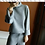 Thumbnail: Cashmere Wide Legged Casual Suit with Roll Neck and Wide Sleeves