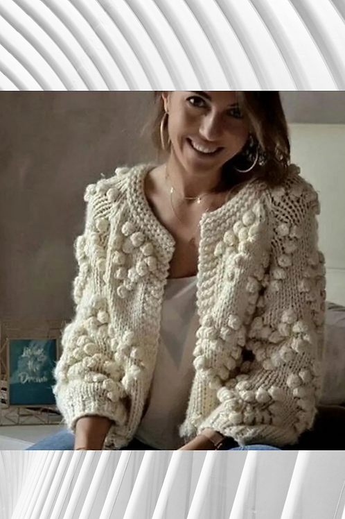 Chunky Knit Cardi - Spring