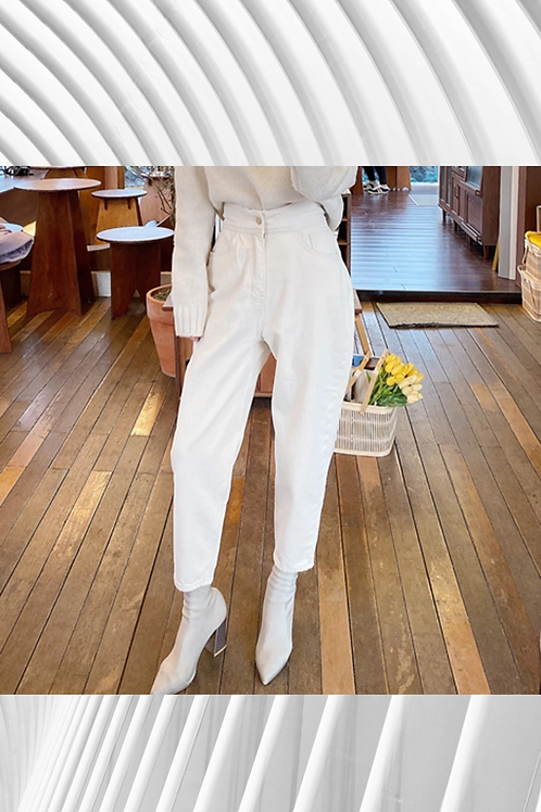 Harem Jeans Fashion High Waist Loose White