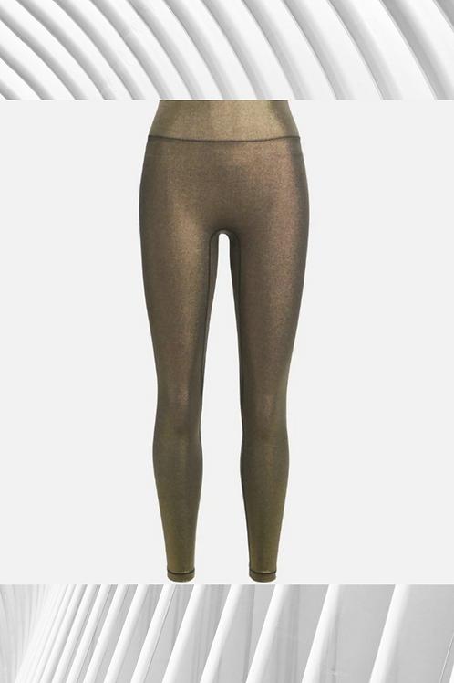 High Quality Custom Flex Shiny Yoga Pants - Plus Size Avail