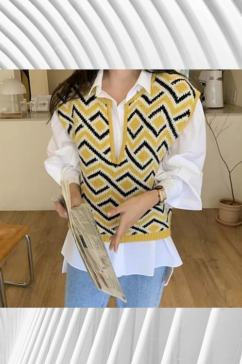 Smart Casual Bell Sleeves Shirt/Jumper