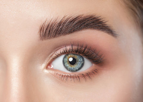 Beautiful woman with long eyelashes, bea