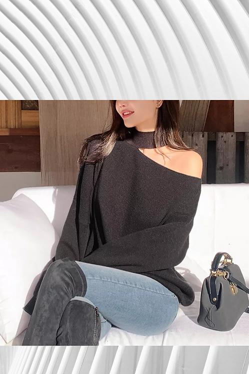 Off the shoulder Cashmere mix oversized jumper - Spring