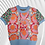 Thumbnail: Embroidered Jacquard Short Sleeved Round Neck Pullover