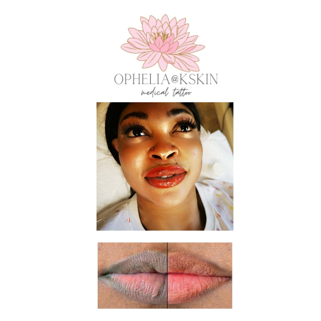 Dark Lips Colour Correction part 1