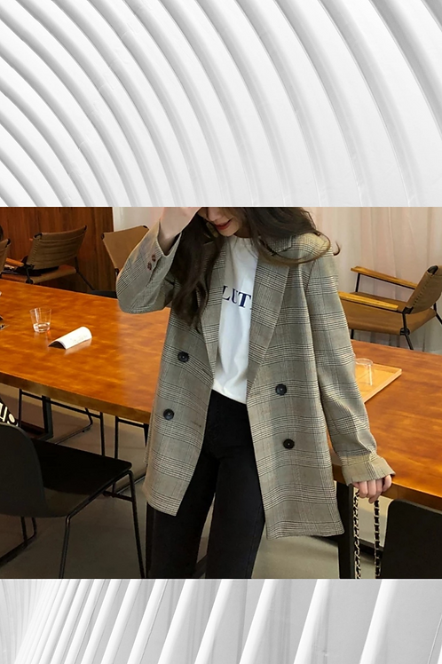 Casual  Blazer Double Breasted