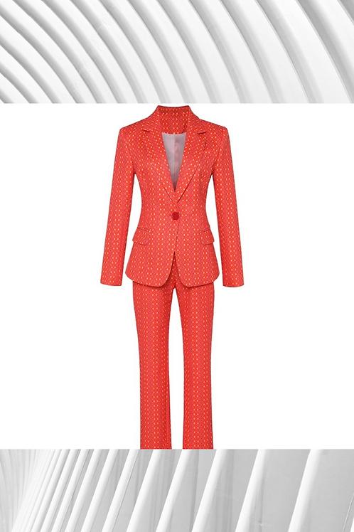 Plaid Floral  Suit